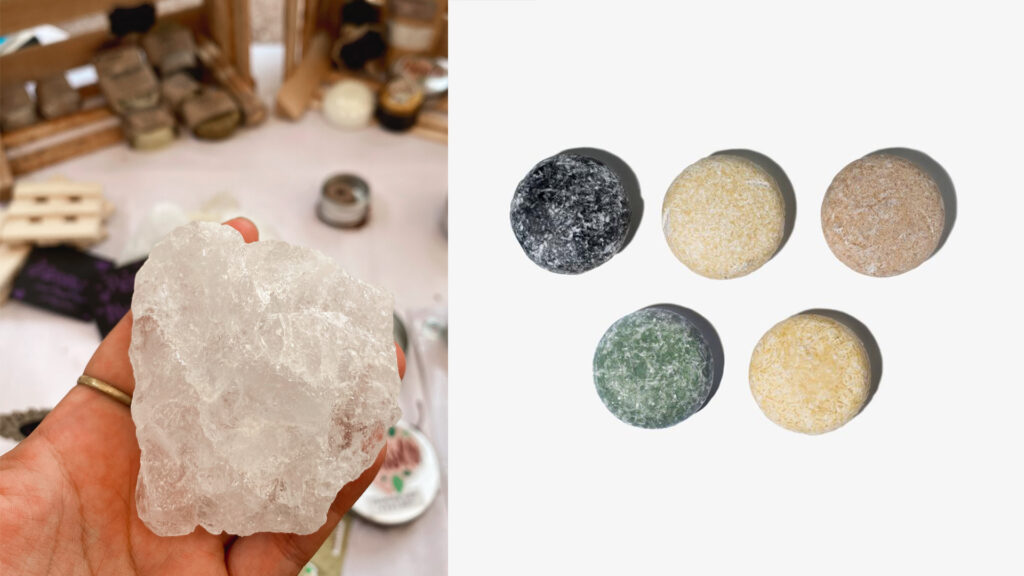 Travel with natural deodorants and shampoo bars - Zero Waste Hacks for travelers and digital nomads